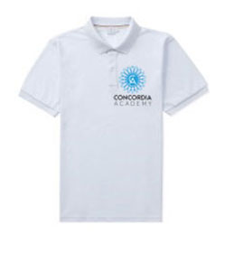Concordia Academy White polo shirt with school logo