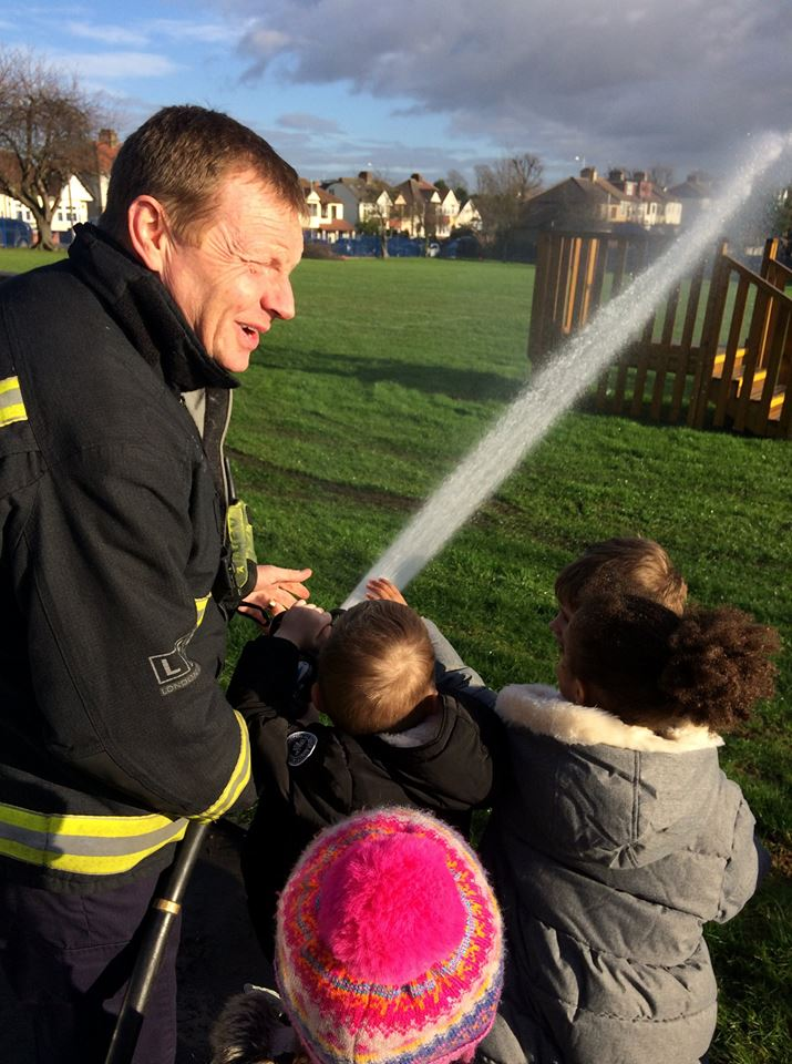 Bluebell class get a visit from the Firemen of Hornchurch Fire Station