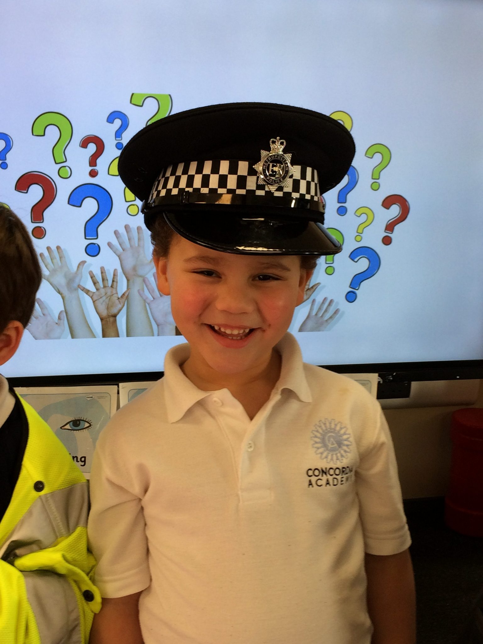 Bluebell class receive a visit from a Police Officer