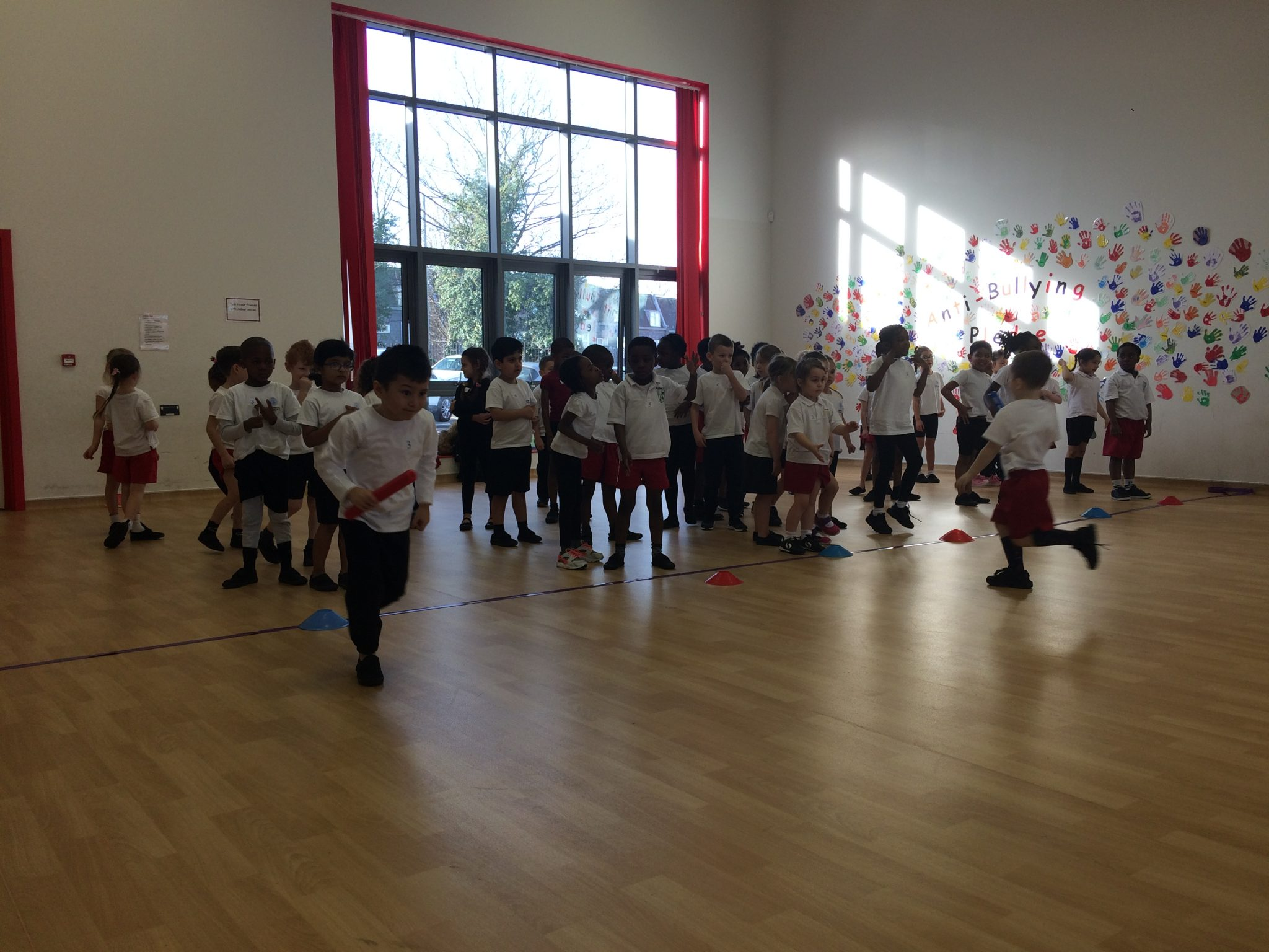 Sunflower class attend sports day at Purfleet Primary Academy