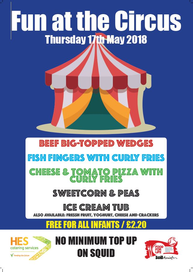 Special Menu 17.05.18 – Fun at the Circus