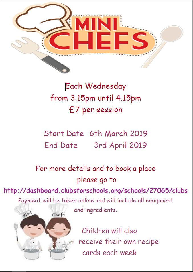 Mini Chefs – Cookery Club